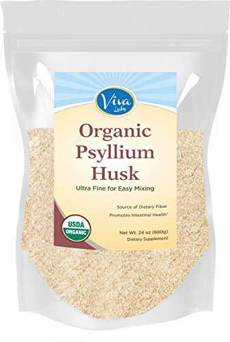 Viva Labs Breathing Psyllium Husk Powder, 24 oz Bag - The BEST Everyday Fiber Support, Ultra Fine for Easy as can be Mixing