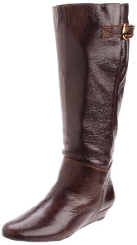 STEVEN By Steve Madden Women's Intyce Riding Boot,Brown Leather,9.5 M US