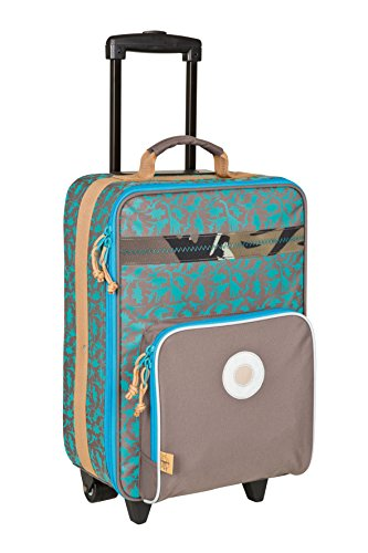 Lassig Sturdy Childrens Trolley Rolling Suitcase, Dino Slate