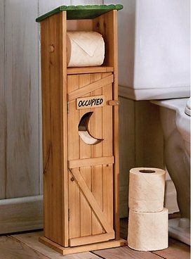 Outhouse toilet paper holder 11108 c for Outhouse bathroom ideas