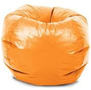 Comfort Research Classic Vinyl Bean Bag Chair, Orange by Comfort Research