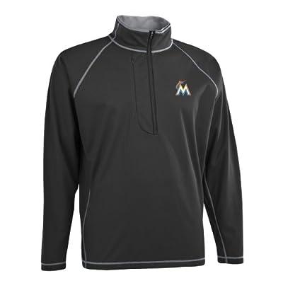 MLB Men's Miami Marlins Shadow 1/2 Zip Pullover