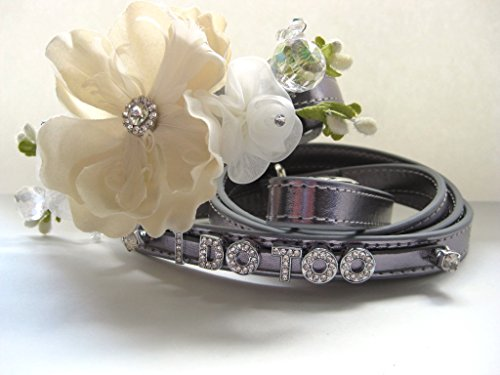 Flower Dog Collar | Wedding Dog Collar | Matching Leash | XS S M L (L w/leash)