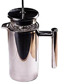 Stainless Steel French Press - Double Wall Coffee and Tea Press with Metal Wire Mesh Filter (1000 ml - 33 ounce)