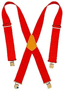 Custom LeatherCraft 110 RED Heavy Duty Work Suspenders
