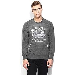 Mens Grey Round Neck Sweatshirts