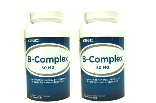 Gnc Vitamin B-Complex 50 250 Capsules - Single & Multi Packs (Two Bottles Each Of 250 Capsules)