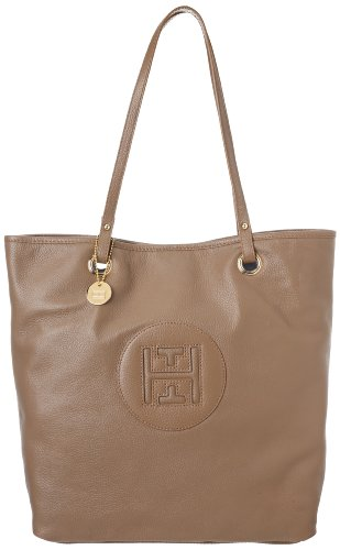Tommy Hilfiger Easy Tote Pebble Leather,Cafe Au Lait,One Size
