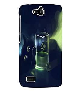 ColourCraft Lovely Cat Design Back Case Cover for HUAWEI HONOR HOLLY
