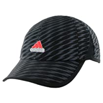 adidas Men's Adizero II Cap, Black/Bold Onix/Solar Red, One Size
