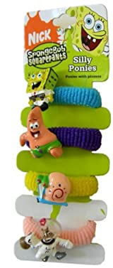 Spongebob Squarepants Hair Band - Sponge & Friends Silly Ponies 5pc