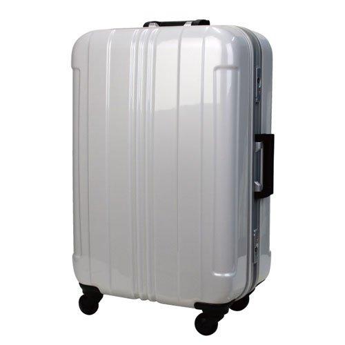 LEGEND WALKER スーツケース キャリーバッグ 4輪 TSAロック 旅行 PC+ABS 鏡面仕上げ日乃本キャスター搭載 100L (ホワイト)