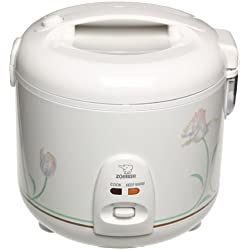 Zojirushi NSRNC-18A 10-Cup (Uncooked) Automatic Rice Cooker and Warmer with Floral Imprint