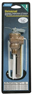 "Camco 10421 1/2"" Temperature and Pressure Valve with 4"" Probe"