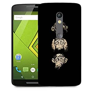 Snoogg Gandhiji'S Three Monkey Designer Protective Back Case Cover For Motorola Moto X Play