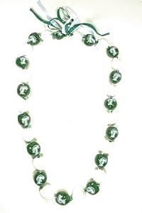 Buy NCAA Tulane Green Wave Go Nuts Kukui Nut Lei Necklace by Style Pasifika