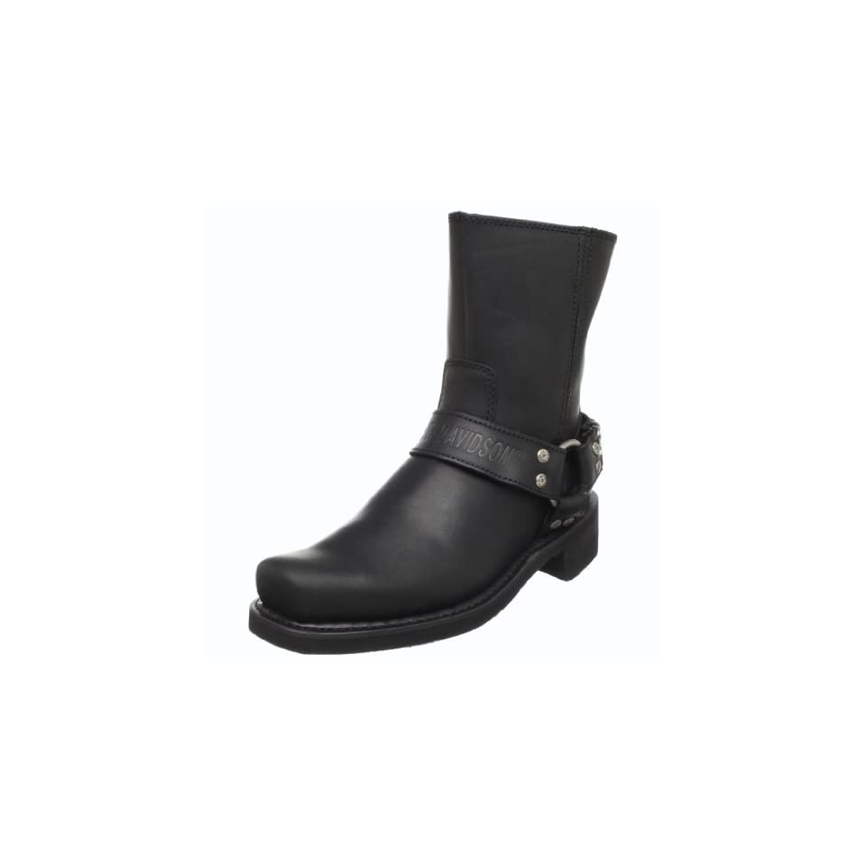 Harley Davidson Mens Double Cinch Boot,Black,12 M US
