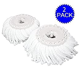 GoplusÃ\'® Lot Of 2 Replacement Mop Micro Head Refill Hurricane For 360Ã\'° Spin Magic Mop New by Goplus