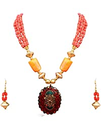 Sitashi Fashion Jewellery Rajasthani Tradition Designer Necklace Set For Girls And Women