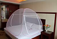 Royal Double Bed Foldable Mosquito Net Blue Border
