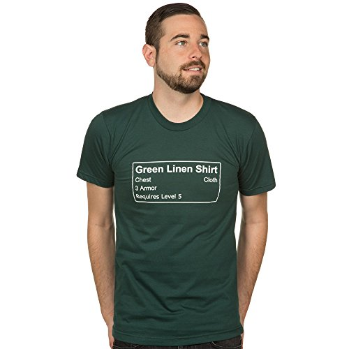 World of Warcraft Green Linen Shirt T-shirt