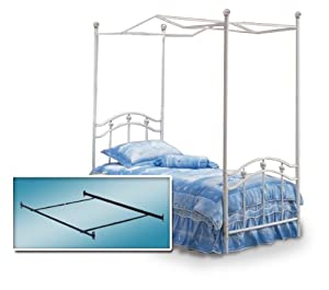 Best Sale White Twin Princess Bed Frame Canopy Frame