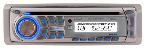 Dual Am400W Marine Cd/Mp3/Wma Receiver With Usb Remote Control And Noaa Weather Band