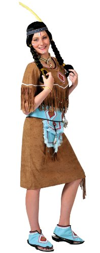 Pow Wow Indian Adult Costume - Womens Medium