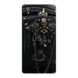 Special Zip Chain Back Case Cover for Lava Iris 800