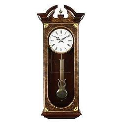 Traditional Large Wall Regulator Chiming Quartz Wall Clock by Wm Widdop