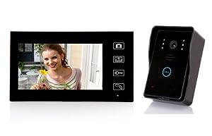 """2.4G 7"""" TFT Wireless Video Door Phone Intercom Doorbell Home Security 1-Camera 1-Monitor"""