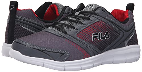 Fila Men's Windstar 2 Running Shoe, Castlerock/Monument/Fila Red, 10 M US