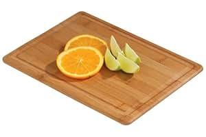 Premier Housewares Planche à découper rectangulaire avec rigole Bambou Naturel