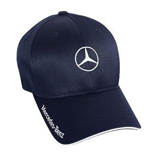 Mercedes Benz Men's Navy Flexfit Baseball Hat from Mercedes-Benz