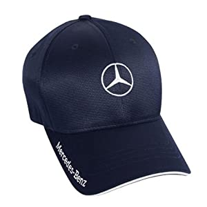 Mercedes benz men 39 s navy flexfit baseball hat for Mercedes benz caps hats