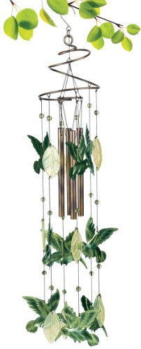 Grasslands Road Hummingbird Wind Chime, 27-Inch, Green, 2-Pack