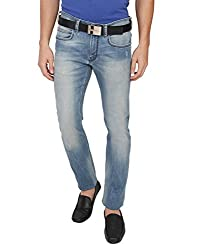 French Connection Men's Skinny Fit Jeans (886928674697_54EFU_32W x 25L_Light Blue)