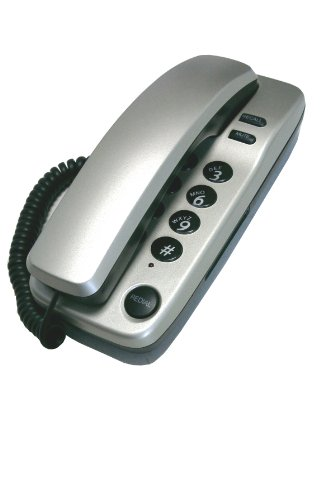 Geemarc Marbella Gondola Style Corded Telephone - Silver- UK Version image