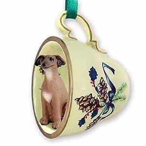 Click to buy Italian Christmas decorations : Italian Greyhound teacup tree ornament. from Amazon!