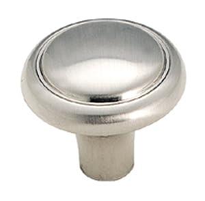 Amerock BP1308G9 Brass and Sterling Traditions Knob, Sterling Nickel, 1-1/8-Inch Diameter
