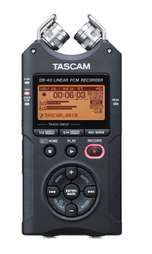 Tascam DR-40 recorder Audio recorder, digital recorder
