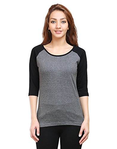 Tee-Talkies-Solid-Womens-Raglan-T-Shirt