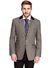 Sartorial Luxury Pure New Wool 2 Button Twill Jacket