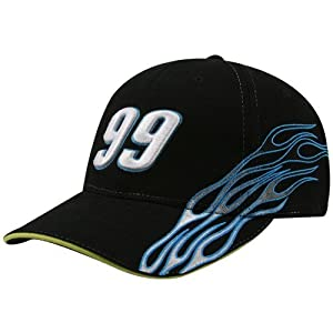 Buy #99 Carl Edwards Black Flame Adjustable Hat by Football Fanatics