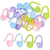 Islandoffer Approx. 20pcs Knitting Crochet Locking Stitch Markers
