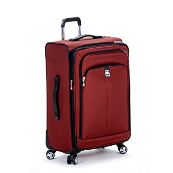 Delsey Luggage Helium Ultimate 25 Inch EXP Spinner Trolley, Burgundy, One Size