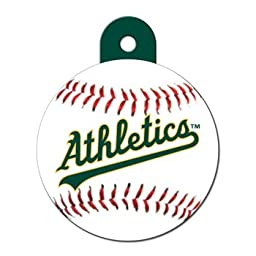 Quick-Tag Oakland Athletics MLB Personalized Engraved Pet ID Tag, 1 1/4\