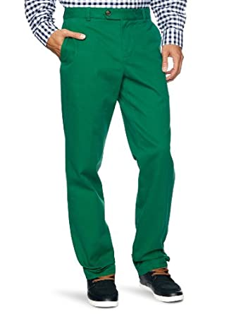 Brooks Brothers Milano Vintage Tapered Men's Trousers Evergreen W38 INxL34 IN