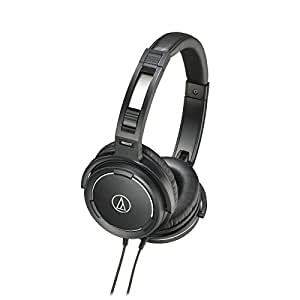 Audio Technica ATH-WS55 Black Solid Bass Over Ear Headphones