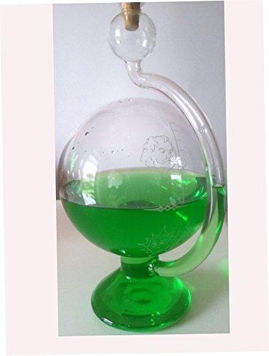 Barometer-antiker-Stil-Wetterstation-rund-aus-Glas-zum-stellen-mit-Wetterskala-auen-Messinstrument-Goethe-Barometer-befllt-mit-grnem-destilliertem-Wasser-Gre-ca-115-x-20-cm-Oberstdorfer-Glashtte